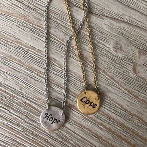 Hope & Love Reversible Necklaces